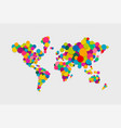 circle world map modern color concept vector image vector image