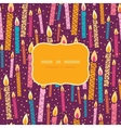 colorful birthday candles frame seamless pattern vector image vector image