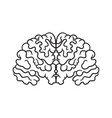 contour pattern with a picture of the brain a vector image vector image