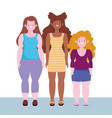 diversity and inclusion women short tall stature vector image vector image