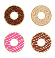 donuts sweet and fresh set vector image vector image