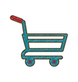 drawing shopping cart online delivery market vector image vector image