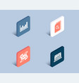 e-mail search files and column chart icons web vector image