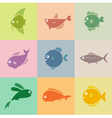 Fish group vector image vector image