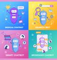 flat banner set medical smart messenger chatbot vector image vector image