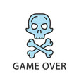 game over color icon virtual video game level end vector image