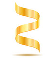 gold ribbon realistic vector image vector image