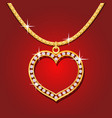Golden necklace with brilliants vector image