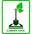 green garden sign vector image vector image