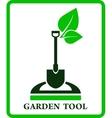 green garden sign vector image