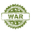grunge textured war stamp seal vector image