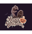 halloween of zombie hand in a graveyard with vector image vector image