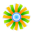 indian flag style design with wheel vector image vector image