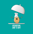 international chef day greeting card or banner vector image vector image
