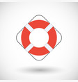 life buoy flat icon vector image vector image