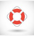 life buoy flat icon vector image vector image