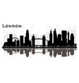 london england city skyline silhouette with black vector image