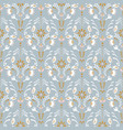 luxury damask floral seamless pattern vector image