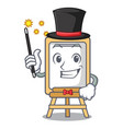 magician easel mascot cartoon style vector image