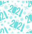 new year seamless pattern with figures 2021 vector image vector image
