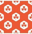 Orange hexagon clover pattern vector image vector image