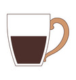 porcelain mug of coffee with handle silhouette vector image vector image