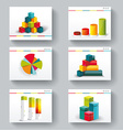 Presentation slide templates for your business vector image vector image