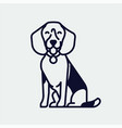 quality beagle hound dog monoweight stroke linear vector image