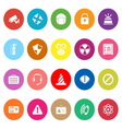 Safety flat icons on white background vector image