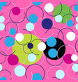 seamless abstract bright pattern circles and vector image vector image