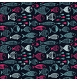Seamless pattern with hand drawn funny fishes in vector image vector image