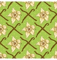 Seamless Pattern with Vanilla Flower vector image