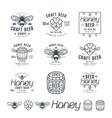 set honey beer labels vector image vector image