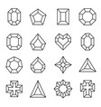 set line diamond icons and signs vector image vector image