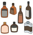 set of liqueur vector image vector image