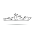 Ship abstract isolated vector image vector image