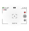 smartphone horizontal camera viewfinder vector image vector image