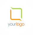 square line color logo vector image