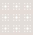 subtle minimal polka dot seamless pattern vector image vector image
