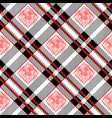 tartan plaid seamless pattern red and black color vector image vector image
