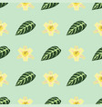 tropical leaves summer green exotic seamless vector image vector image