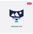 two color panoramic view icon from future vector image vector image