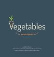 Vegetable Logo Banner vector image