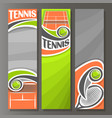 vertical banners for tennis vector image vector image