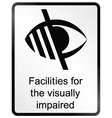 Visually Impaired Information Sign vector image vector image
