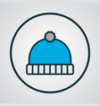 winter hat icon colored line symbol premium vector image vector image
