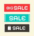 Sale Paper Retro Labels Set vector image