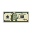 100 dollar linear linear style usa money american vector image