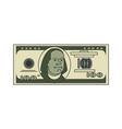 100 dollar linear linear style usa money american vector image vector image