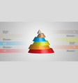 3d infographic template with cone horizontally vector image vector image